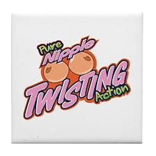 Nipple Twisting Action Tile Coaster