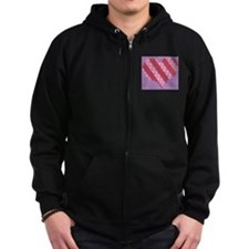 Dots & Stripes Heart Zip Hoodie