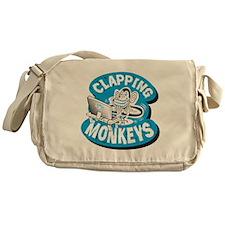 Clapping Monkey Logo Messenger Bag