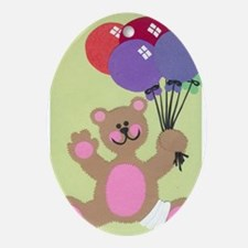 Get Well Teddy Ornament (Oval)