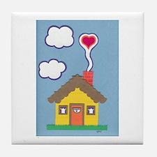 Hearth & Heart Tile Coaster