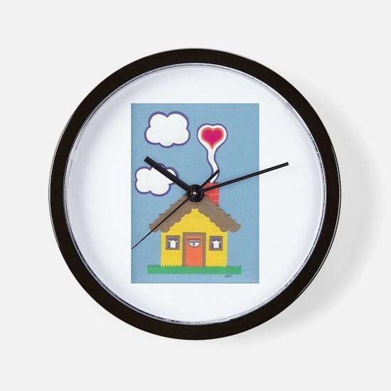 Hearth & Heart Wall Clock