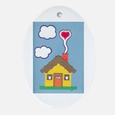 Hearth & Heart Ornament (Oval)