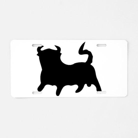 Black Bull Aluminum License Plate