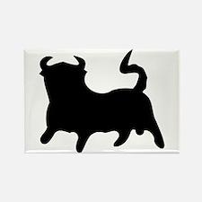 Black Bull Rectangle Magnet
