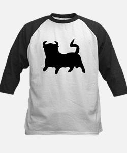 Black Bull Kids Baseball Jersey