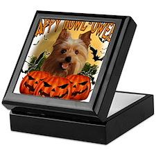 Happy Halloween Yorkie.png Keepsake Box