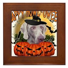 Happy Halloween Weimer.png Framed Tile