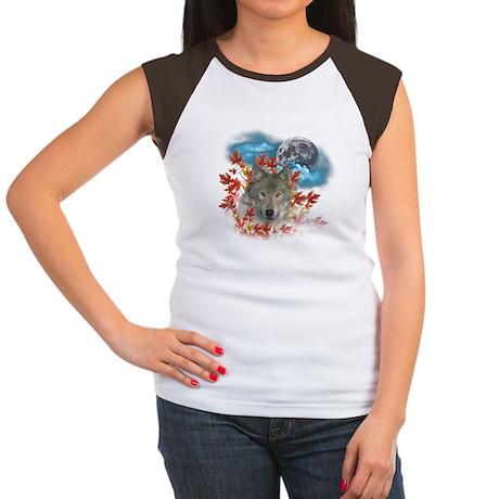 Wolf Harvest Moon 2 Women's Cap Sleeve T-Shirt