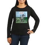 Elephant Tracking Women's Long Sleeve Dark T-Shirt