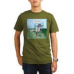 Elephant Tracking Organic Men's T-Shirt (dark)