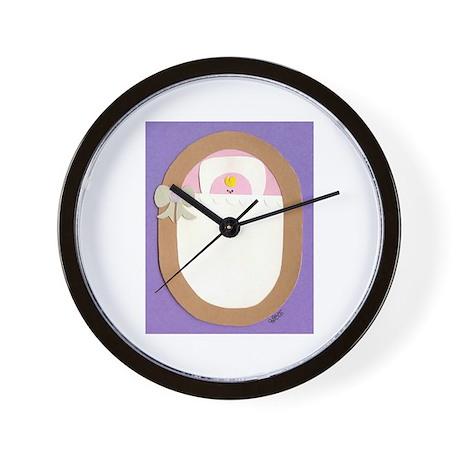 Pink Bitty Baby Wall Clock