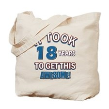 Awesome 18 year old birthday design Tote Bag