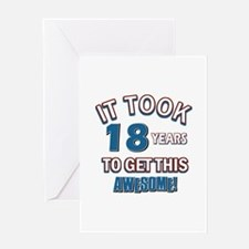 Awesome 18 year old birthday design Greeting Card