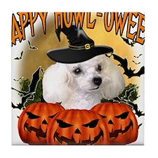 Happy Halloween Poodle.png Tile Coaster