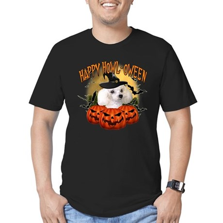 Happy Halloween Poodle.png Men's Fitted T-Shirt (d
