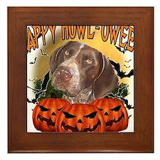 Happy Halloween Pointer.png Framed Tile