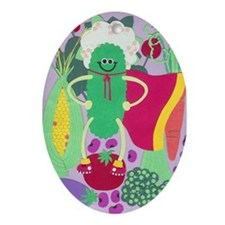 Super Pickle Ornament (Oval)