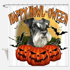 Happy Halloween Miniature Schnauzer.png Shower Cur