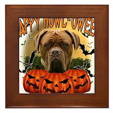 Happy Halloween Mastiff.png Framed Tile