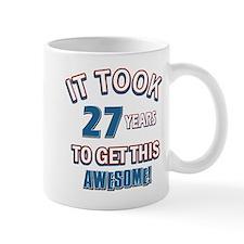 Awesome 27 year old birthday design Mug