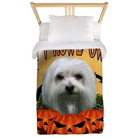 Happy Halloween Maltese.png Twin Duvet