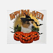 Happy Halloween Jack Russell.png Throw Blanket