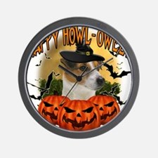 Happy Halloween Jack Russell.png Wall Clock