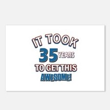 Awesome 35 year old birthday design Postcards (Pac