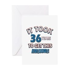 Awesome 36 year old birthday design Greeting Card