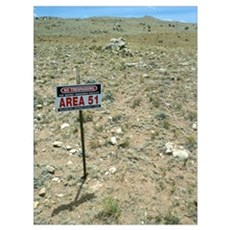 Area 51 UFO site Framed Print