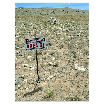 Area 51 UFO site Poster