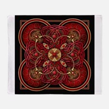 Red Celtic Tapestry Throw Blanket
