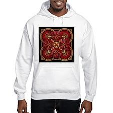 Red Celtic Tapestry Jumper Hoody