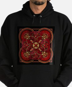 Red Celtic Tapestry Hoodie (dark)