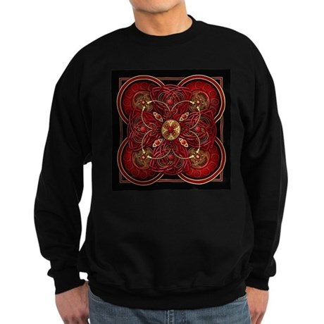 Red Celtic Tapestry Sweatshirt (dark)