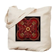 Red Celtic Tapestry Tote Bag