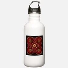 Red Celtic Tapestry Water Bottle