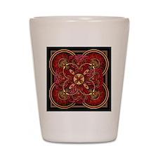 Red Celtic Tapestry Shot Glass