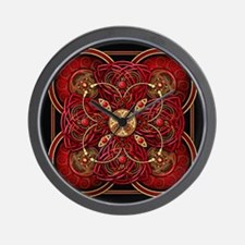 Red Celtic Tapestry Wall Clock