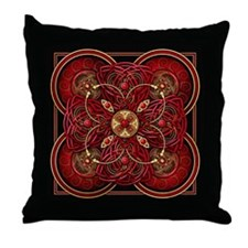 Red Celtic Tapestry Throw Pillow