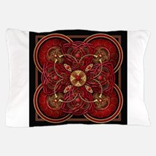 Red Celtic Tapestry Pillow Case