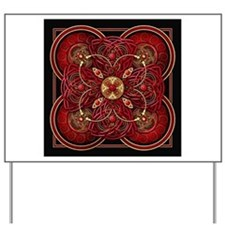 Red Celtic Tapestry Yard Sign