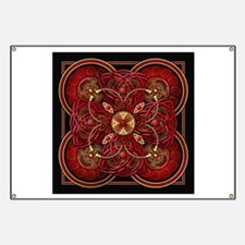 Red Celtic Tapestry Banner