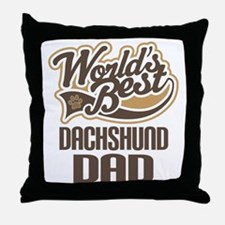 Dachshund Dad Throw Pillow