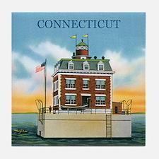 Connecticut New London Ledge Light Tile Coaster
