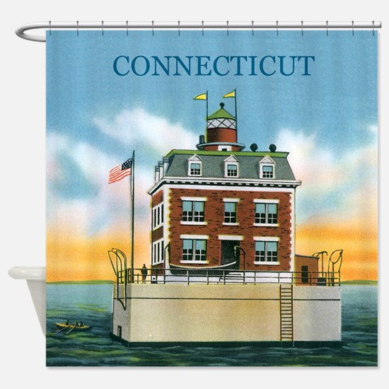 Connecticut New London Ledge Light Shower Curtain