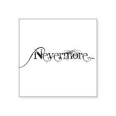 Nevermore Poe Square Sticker 3