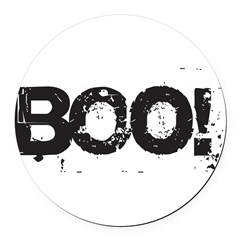 Boo! Round Car Magnet