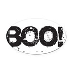 Boo! Oval Car Magnet
